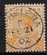 Saint Helena, QV, 1896, 2d Orange- Yellow,  Fine, Used - Saint Helena Island