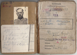 RRR! SOLDBUCH Zgl. PERSONALAUSWEIS Eines OBERSCHÜTZTEN 1942 GEFREITER Ab 1944 Des 7 Inf.Ersatz Bat. II, 24 Seiten Mit .. - 1939-45