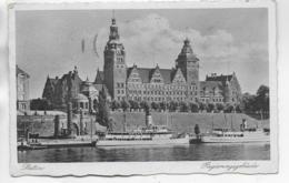 AK 0318  Stettin - Regierungsgebäude / Verlag Schütz & Bergmann Um 1940 - Pommern