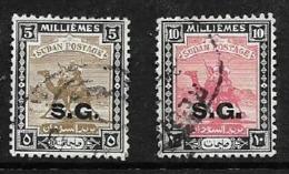 Sudan, 1948, Official Opt S.G., 5 Mils, 10 Mils Used - Sudan (...-1951)
