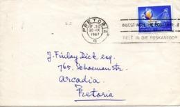 AFRIQUE DU SUD. N°251 De 1961-62 Sur Enveloppe Ayant Circulé. Mine D'or. - Factories & Industries