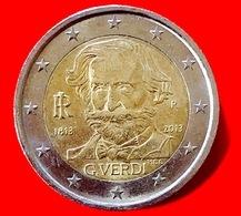 ITALIA - 2013 - Moneta - 200 Anni Della Nascita Di Giuseppe Verdi, Compositore - Euro - 2.00 - Italia