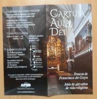 FOLLETO CARTUJA AULA DEI - FRESCOS DE FRANCISCO DE GOYA. - Folletos Turísticos