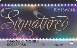 Riverwalk Casino - Vicksburg, MS USA - Slot Card - Casino Cards