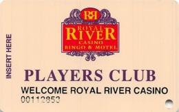 Royal River Casino - Flandreau, SD - Temp Slot Card With Welcome Royal River Casino Printing - Casino Cards
