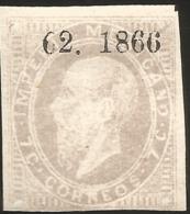 J) 1866 MEXICO, EMPEROR MAXIMILIAN, IMPERFORATED SCOTT 26, MN - Mexico
