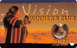 Ohkay Casino - San Juan Pueblo, NM - BLANK 2nd Issue Slot Card - Casino Cards