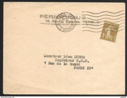 N°277 Sur Enveloppe-Périodique-Cachet De Paris - Marcofilia (sobres)