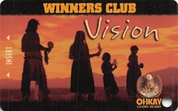 Ohkay Casino - San Juan Pueblo, NM - BLANK 3rd Issue Slot Card - Casino Cards