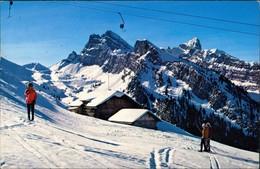 Ansichtskarte Schwenden Diemtigtal Skilift Grimmialp-Stierengrimmi 1974 - BE Berne