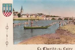 REF.HU . CPM . 58 . LA CHARITÉ SUR LOIRE . LA PLAGE ANIMÉE - La Charité Sur Loire