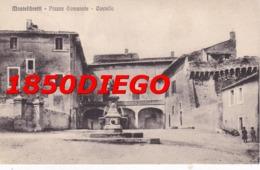 MONTE LIBRETTI - PIAZZA COMUNALE E CASTELLO F/PICCOLO VIAGGIATA ANIMAZIONE - Roma (Rome)