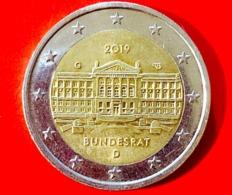 GERMANIA - 2019 - Moneta - 70° Anniversario Dell'istituzione Del Bundesrat - Edificio - Euro - 2.00 - Germany