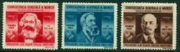 "-Romania- 1945- ""Karl Marx, Engels & Lenin""- MH (*) - Nuovi"