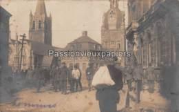 CARTE PHOTO  ALLEMANDE COMINES 1917 - France