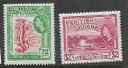 British Guiana, EIIR, 1963, 72 Cents, $2, MNH ** - British Guiana (...-1966)