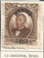 J) 1883 MEXICO, JUAREZ, 12 CENTS BURN, SCOTT 136, MN - Mexico