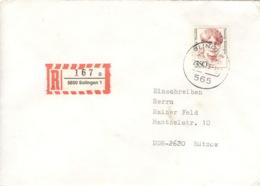 BRD 1393 Auf R-Brief In Die DDR - BRD