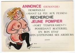 Humour - Annonce Demoiselle Recherche Jeune Pompier - Humour