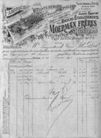 Roulers - Fabrique & Teinturerie De Toiles Moerman Frères 1903 (Illustrée, Bleu Noir Et Argentin) - Belgique
