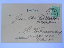 """1898 Privatpost - Leipzig, LIPSIA, Mit Bild-Motiv """"Dresden Altmarkt"""" - Briefe U. Dokumente"""