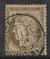 France, Ceres, 1872, 30 Cents Brown, Used - 1871-1875 Ceres