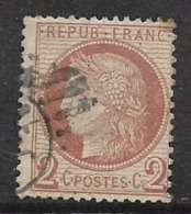 France, Ceres, 1872 -1873, 2 Cents Brown, Used - 1871-1875 Ceres
