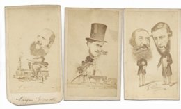 TROIS PHOTOGRAPHIES ANCIENNES 1860 - Foto