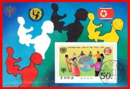 COREA  HOJITA BLOQUE AÑO 1979 AÑO INTERNACIONAL DEL NIÑO - Corea (...-1945)