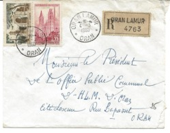 Algérie LR YT 1129/1130 Oran Lamur 04/03/60 - Algeria (1924-1962)