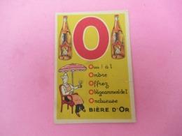 Petite Carte Commerciale/Biére D'Or/Rue Carriéres D'Amérique/Paris/Alphabet Biére D'Or Déposé /Vers 1920-1930 ?   VPN225 - Publicité