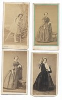 QUATRE  PHOTOGRAPHIES ANCIENNES 1860  PIERRE PETIT PARIS - Oud (voor 1900)