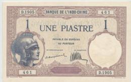 INDOCHINE   1  Piastre   Nd(1921)   -- UNC --  Rare - Indocina