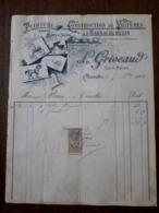 L24/87 Ancienne Facture. Charolles. Construction De Voitures Et D'harnachements. 1904 - France