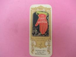 Petite Carte Commerciale/ Le Gant De Tissus BOURDON/Instruction Pour  Nettoyage/Deletrez/Bouquet/Vers 1920   VPN226 - Autres