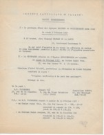 Lettre D'information Du GROUPE CATHOLIQUE DU PALAIS DE JUSTICE DE PARIS De 1957 - Religion & Esotericism
