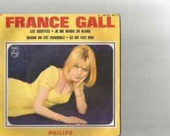 45t France Gall Les Sucettes Je Me Matie En Blanc Quand On Est Ensemble ça Fait Me Rire - Vinyl-Schallplatten