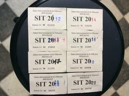 7 TICKETS D'ENTREE SALON INTERNATIONAL DE LA TELECARTE  SIT Houilles - Tickets D'entrée
