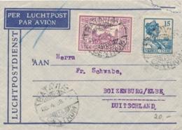 Nederlands Indië - 1933 - 10 & 15 Cent Op LP-briefje Van LBnr BATAVIACENTRUM/14 Naar Boizenburg / Deutschland - Nederlands-Indië