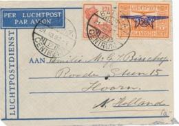 Nederlands Indië - 1932 - 12,5 & 50 Cent Op LP-briefje Van LBnr BATAVIACENTRUM/17 Naar Hoorn / Nederland - Nederlands-Indië
