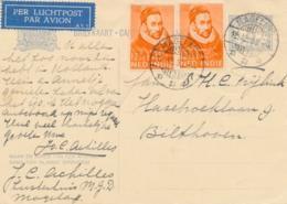 Nederlands Indië - 1933 - 2x Willem I 2e Oplage Op Briefkaart G54 Van LBnr MAGELANG/3 Naar Bilthoven / Nederland - Nederlands-Indië