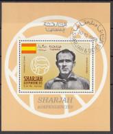 Bf. 508A Sharjah 1968 Real Madrid ALFREDO DI STEFANO Nuovo Preoblt. Perforato. - Fussball