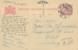 Nederlands Indië - 1922 - 5 Cent Cijfer, Briefkaart G23 Van LB MOENTILAN Naar Weert / Nederland - Nederlands-Indië