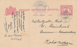 Nederlands Indië - 1920 - 5 Cent Cijfer, Briefkaart G23 Van LB NATAL Naar KBu KOTANOPAN - Nederlands-Indië
