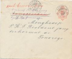 Nederlands Indië - 1929 - 12,5 Cent Wilhelmina, Envelop G47 Van LB PARAR Naar Ponorogo - R Doorgehaald / Uit Brievenbus - Nederlands-Indië