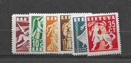 1939 MNH Lituania Mi 437-42 Postfris** - Lituania