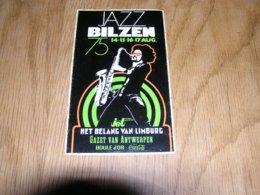 JAZZ BILZEN  Concert Jazz Bilzen Août 1975 België Belgique Souvenirs Autocollant Sticker Collections - Autocollants