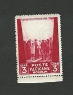 """5162 """"PRO PRIGIONIERI-3a SERIE-1945-3 LIRE-SENZA VOLTO DEL REDENTORE-FILIGRANA RUOTA ALATA"""" NUOVO - Ungebraucht"""
