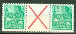 DDR Zusammendruck WZ5 ** Postfrisch - [6] République Démocratique