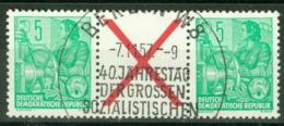 DDR Zusammendruck WZ5 O - Zusammendrucke